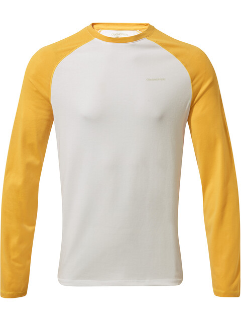 Craghoppers NosiLife Lorenzo Long Sleeved T-Shirt Boys Indian Yellow/Optic White